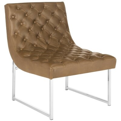 Safavieh Hadley Leather Tufted Side Chair