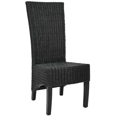 Safavieh Charlotte Shag Wicker Parson Chairs (Set of 2)