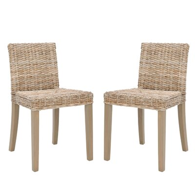 Safavieh Charlotte Wicker Parsons Chair (Set of 2)