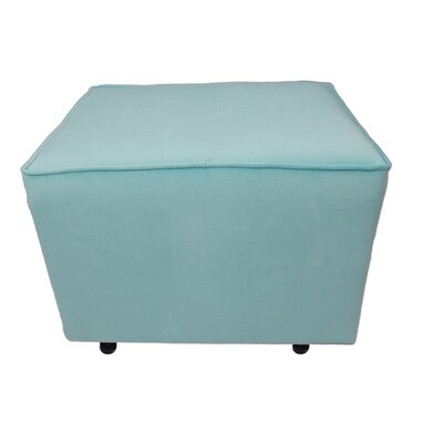 Fun Furnishings Comfy Cozy Velvet Ottoman