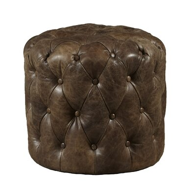 Highway To Home Kendra Leather Ottoman