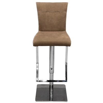 RMG Fine Imports Adjustable Height Swivel Bar Stool with Cushion