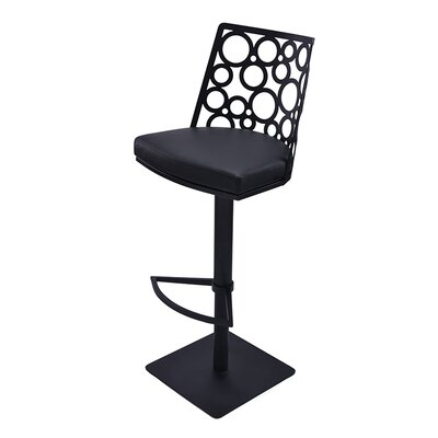 RMG Fine Imports Levine Adjustable Height Swivel Bar Stool with Cushion