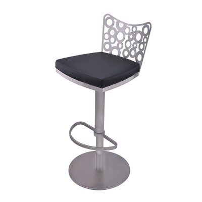 RMG Fine Imports Jester Adjustable Height Swivel Bar Stool with Cushion