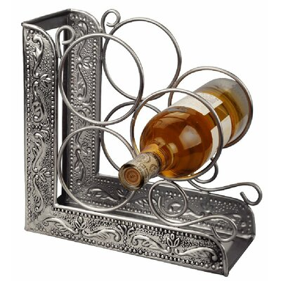 Old Dutch International Victoria Embossed 3 Bottle Tabletop Wine Rack