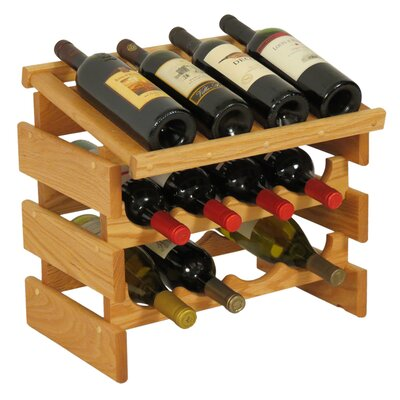 Wooden Mallet Dakota 12 Bottle Tabletop Wine Rack