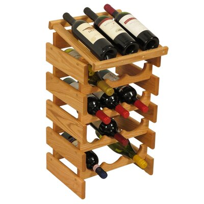 Wooden Mallet Dakota 15 Bottle Floor Wine Rack