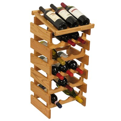 Wooden Mallet Dakota 18 Bottle Floor Wine Rack