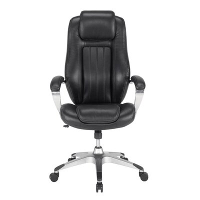 Sauder Gruga Solace Pennant High-Back Leather Executive Chair