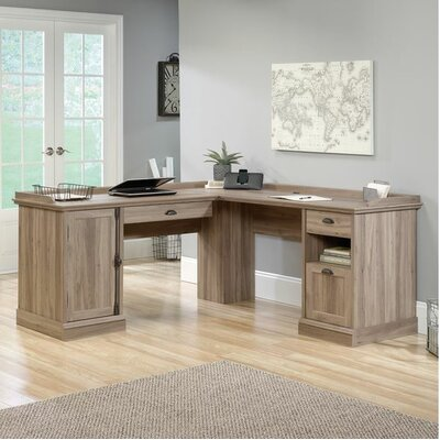 Beachcrest Home Bowerbank L-Shaped Executive Desk