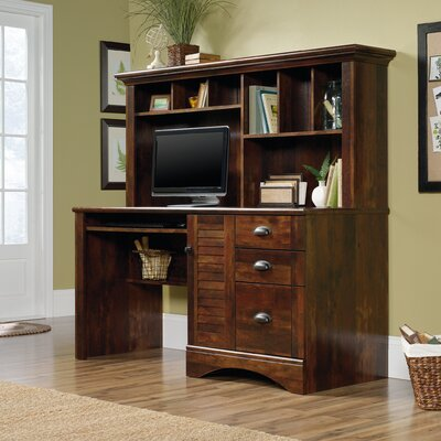 Bay Isle Home Enfield Computer Desk with Hutch