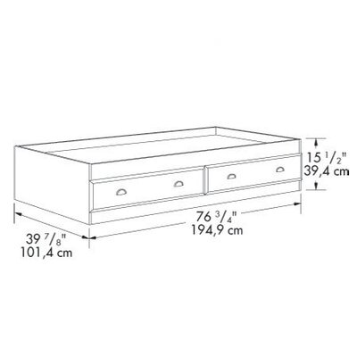 Sauder Bridgewater Twin Mate's Bed