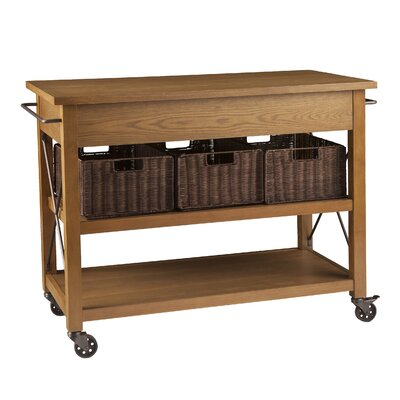Wildon Home ® Lyman Kitchen Island with Wood T..