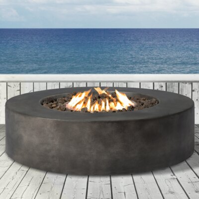 LivingSourceInternational Santiago Concrete Propane Fire Pit Table U0026  Reviews | Wayfair