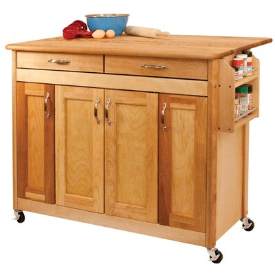Catskill Craftsmen, Inc. Kitchen Island with Wood Top