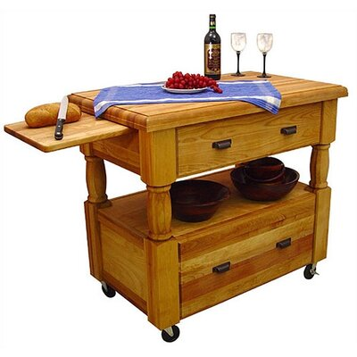 Catskill Craftsmen, Inc. Kitchen Island with But..
