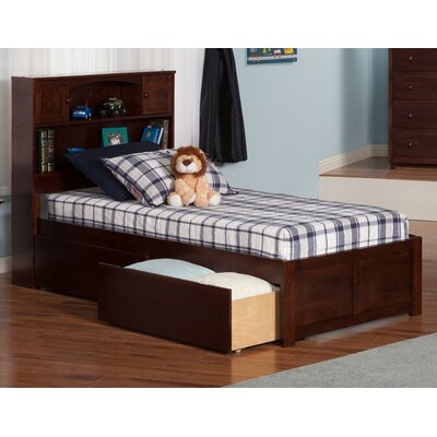 Atlantic Furniture Newport Extra Long Twin Platform Bed with Storage
