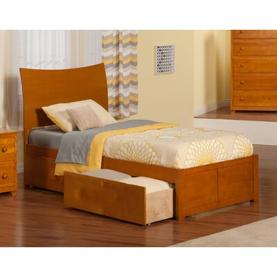 Atlantic Furniture Soho Extra Long Twin Sleigh Bed with Storage