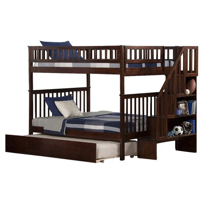 Atlantic Furniture Woodland Full over Full Bunk Bed with Trundle