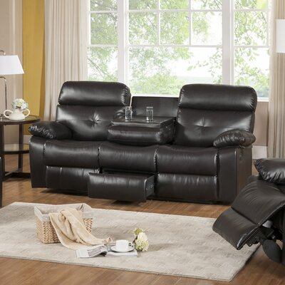 Primo International Roquette Leather Reclining Sofa
