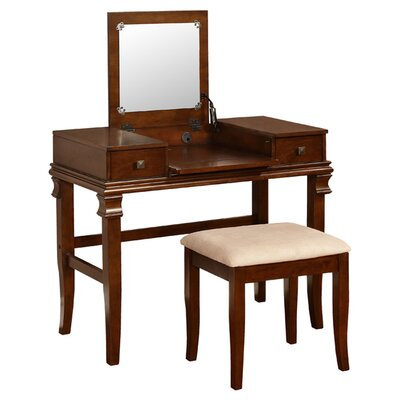 Linon Angela Vanity Set with Mirror