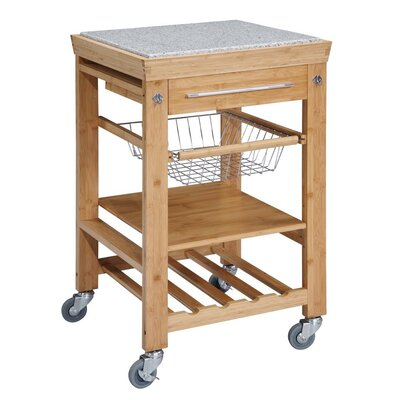 Linon Kitchen Cart with Gr..