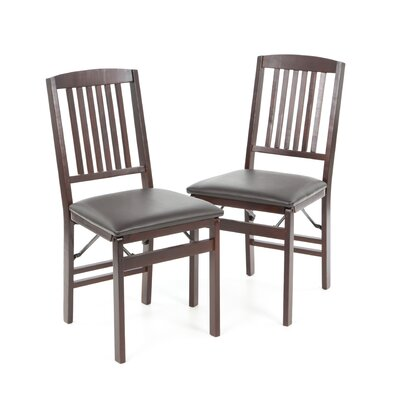 Andover Mills Clarke Mission Back Side Chair (Set of 2)