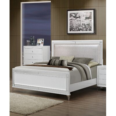 Global Furniture USA Catalina Upholstered Panel Bed