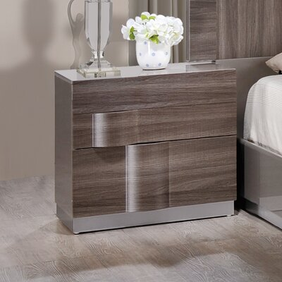 Global Furniture USA 2 Drawer Nightstand