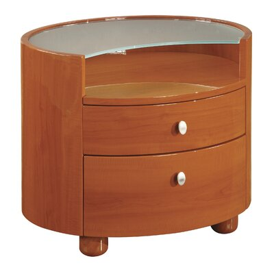 Global Furniture USA Emily 2 Drawer Nightstand