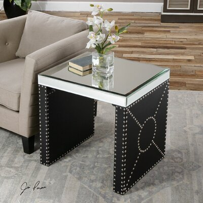 Uttermost Lucero Mirrored End Table