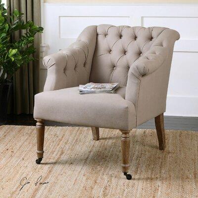 Uttermost Khaldun Tufted Arm Chair