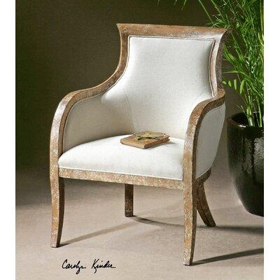 Uttermost Quintus Linen Arm Chair