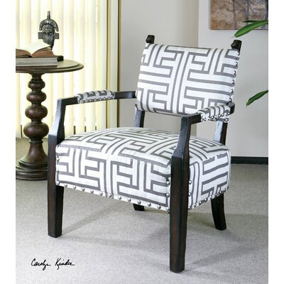 Uttermost Terica Geometric Accent Arm Chair