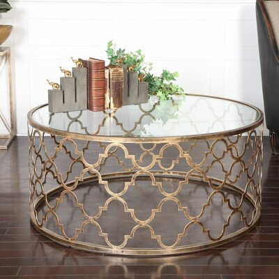 Uttermost Quatrefoil Coffee Table