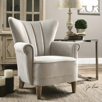 Uttermost Franchette Butterfly-Back Arm Chair