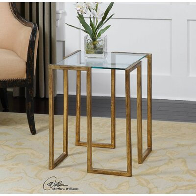 Uttermost Mirrin End Table
