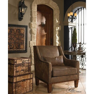 Uttermost Clay Leather Arm Chair