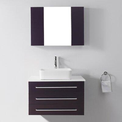 Virtu Ultra Modern Series 32 6 Single Bathroom Vanity Set With White Top And Mirror Reviews