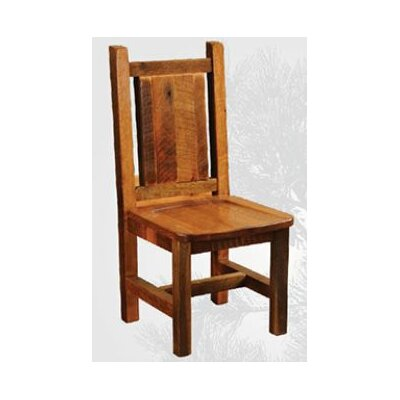Fireside Lodge Artisan Barnwood Dining Side Chair in Antique Oak