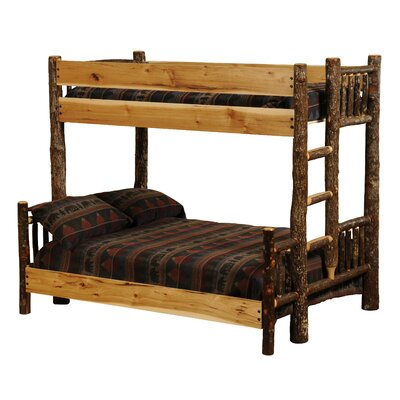Fireside Lodge Hickory Twin over Queen Bunk Bed
