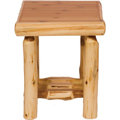 Fireside Lodge Cedar End Table