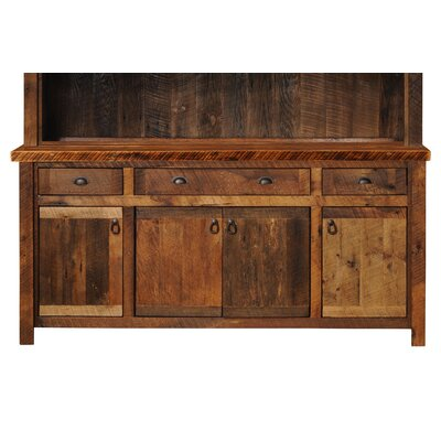 Fireside Lodge Barnwood Buffet with Hickory Legs