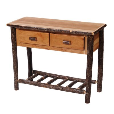Fireside Lodge Hickory Two Drawer Console Table
