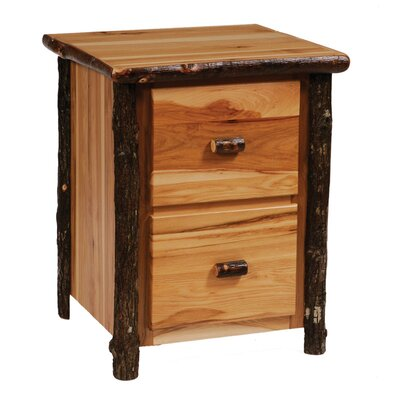Fireside Lodge Hickory 2-Drawer File Cabinet