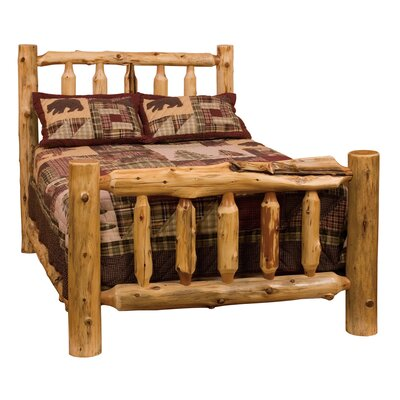 Fireside Lodge Traditional Cedar Log Platform Bed