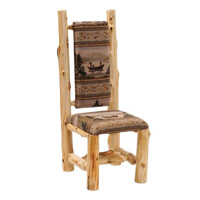 Fireside Lodge Traditional Cedar Log High Back Side Chair