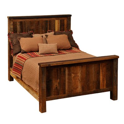 Fireside Lodge Reclaimed Barnwood Platform Bed