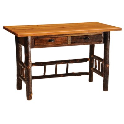 Fireside Lodge Reclaimed Barnwood Writing Desk with 2 Drawers Image