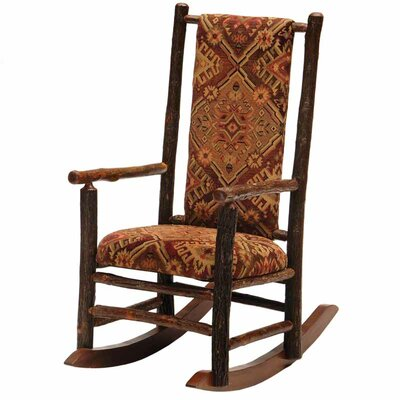 Fireside Lodge Hickory Rocking Chair with Hallifax Gold